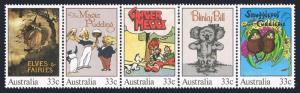 Australia 960 ae strip,MNH.Michel 940-944. Illustration,classic child's books.