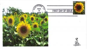 Sunflower First Day Cover, from Toad Hall Covers!