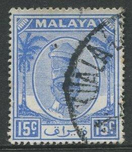 STAMP STATION PERTH Perak #112 Sultan Yussuf Izuddin Shah Used 1950