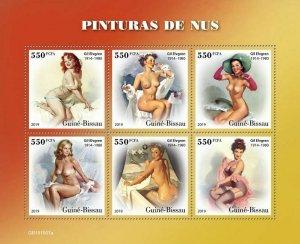 Z08 IMPERF GB191007a GUINEA BISSAU 2019 Nude art MNH ** Postfrisch