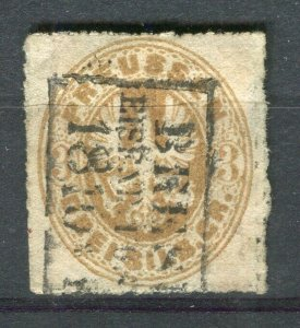 GERMAN PRUSSIA; 1863-65 early classic rouletted issue 3sgr. used fair Postmark