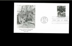 2002 First day Cover Masters of Amer.Photo. San Diego CA