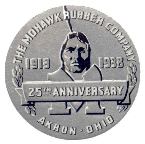 US 1938 Mohawk Rubber Company 25th Anniversary Poster Stamp
