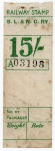 (I.B) Sligo Leitrim & Northern Counties Railway : Parcel Stamp 15/-