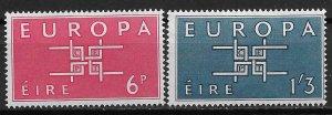 1963 Ireland 188-9 Europa MH C/S of 2
