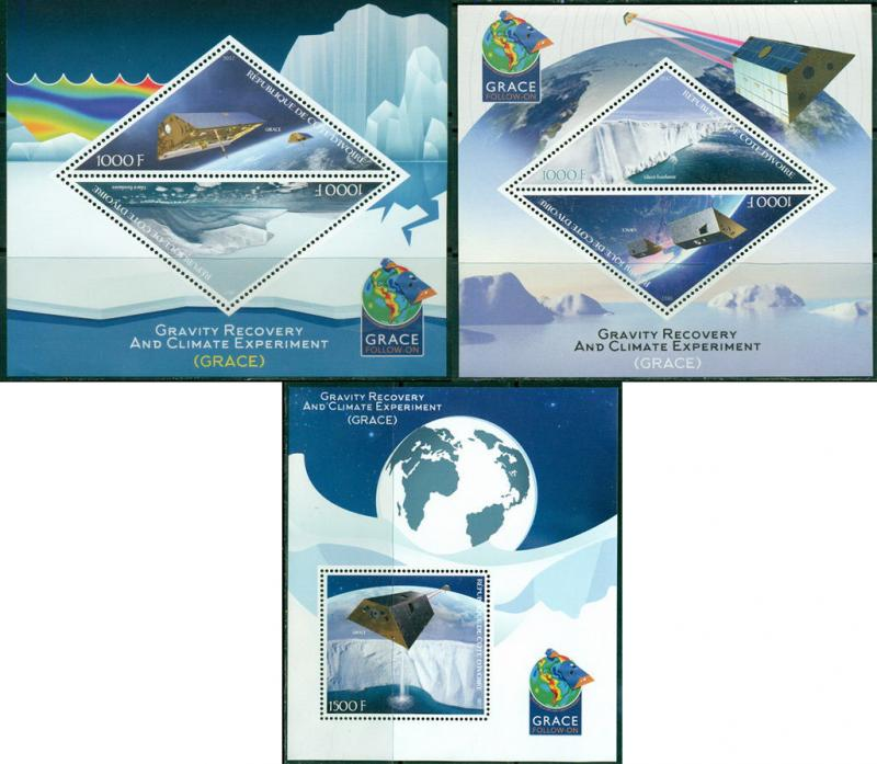 Grace Space Satellite Environment Protection Ivory Coast MNH stamp set