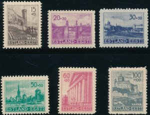 Stamp Germany Estland Mi 4-9 Sc NB1 1941 WWII 3rd Reich EESTI Estonia Set MNH