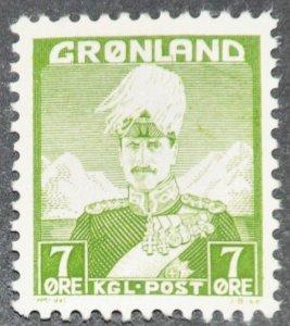 DYNAMITE Stamps: Greenland Scott #3 - MINT