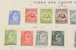 TURKS AND CAICOS OLD COLLECTION DR SCHULTZ ESTATE MINT AND USED Z733