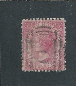 BRITISH HONDURAS 1872-79 6d ROSE GU SG 9 CAT £60