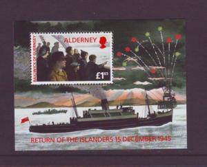 Alderney Sc 90 1995 Return of Islanders stamp sheet mint NH
