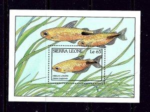 Sierra Leone 963 MNH 1988 Fish S/S