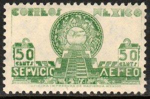 MEXICO C175, 50¢ 1934 Definitive Wmk Gobierno...279 UNUSED, H OG. VF.