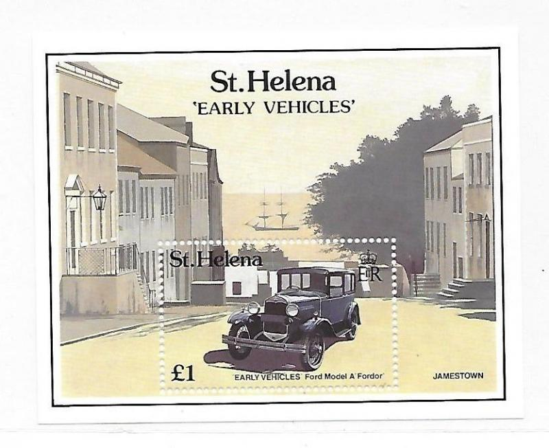 St Helena 1989 Early Vehicles Ford Model A S/S MNH B43
