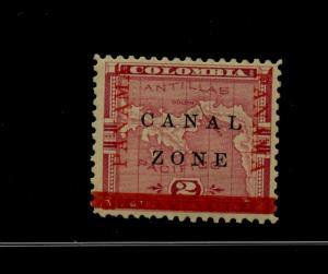 Canal Zone 11b Mint Stamp 'INVERTED BAR' Variety with PF Cert (Stock CZ11-pf)