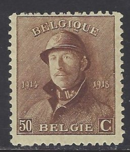 Belgium, Scott #133; 50c King Albert, MH
