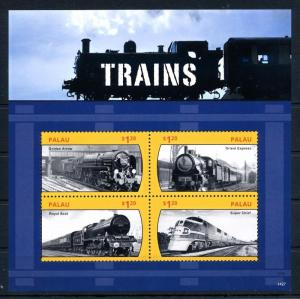 [61465] Palau 2014  Railway Train Eisenbahn Chermin De Fer Sheet MNH
