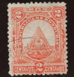 Honduras  Scott 401 Used  1890 coat of arms.