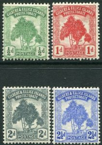 GILBERT & ELLICE ISLANDS-1911 Set of 4 Values Sg 8-11 MOUNTED MINT V34665