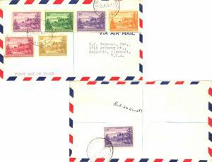 Norfolk Islands 1/2d, 1d (2), 1 1/2d, 2d, 4d and 2/- View of Ball Bay 1947 No...