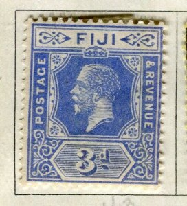 FIJI; 1922-27 early GV issue fine Mint hinged 3d. value