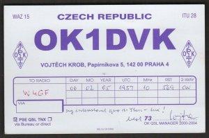 QSL CARD OK1DVK,Vojtech Krob,05, Czech Republic(Q4437)
