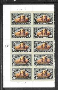 #3854 MNH Plate Block & Copy Block of 10
