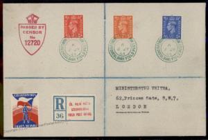 Great Britain Czech Legion England Registered Cover Polni Posta Feldpost 72211