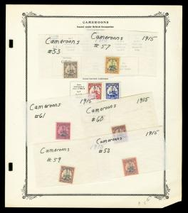 British Occupied Cameroon Yacht Stamp Collection