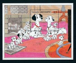 [107492] Grenada Grenadines 1988 Disney 101 Dalmatians dogs pets Sheet MNH