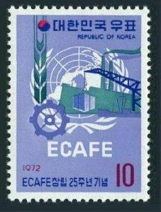 Korea South 814,MNH.Mi 828. ECAFE,25th Ann.1972.UN emblem,agriculture,industry.