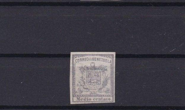 VENEZUELA 1862 IMPERF STAMP ½ CENTAVO MOUNTED MINT  CAT £31  REF 6307
