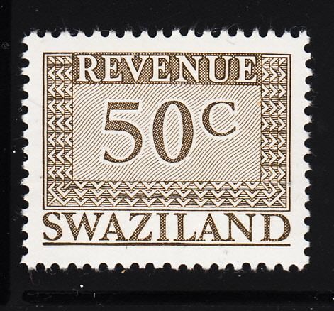 Swaziland 1975-77 MNH 50c grey-brown Revenue
