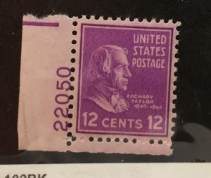 US #817 (MNHOG) [Mint No Hinge Original Gum] w/Plate #