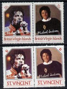 British Virgin Islands 1985 Michael Jackson 55c Unissued ...
