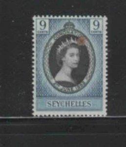 SEYCHELLES #172 1953 CORONATION ISSUE MINT VF NH O.G aa