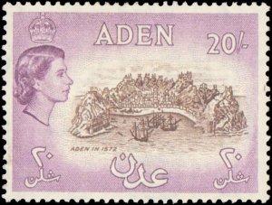 Aden #61, Incomplete Set, Spot of paper on back, 1953-1959, Hinged