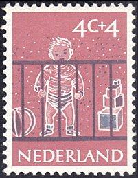 Netherlands # B336 mnh ~ 4¢ + 4¢ Chilld In Playpen