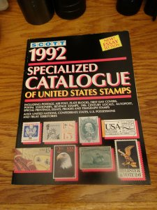 Scott 1992 Specialized Catalogue Of U.S. Stamps