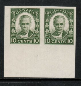 Canada #190a Extra Fine Never Hinged Bottom Margin Imperf Pair - Natural Gum Bub