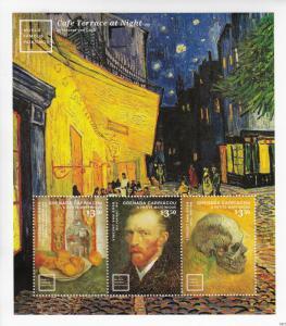Grenada Grenadines Art Stamps 2014 MNH World Famous Paintings Van Gogh 3v M/S II