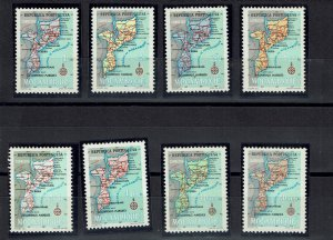 D - Mozambique 1954 MNG Mapa #412/19