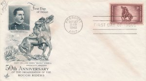 United States sc# 973 FDC - Rough Riders Anniversary - ArtCraft Cachet