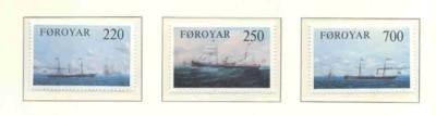 Faroe Islands Sc 90-3 1983 Cargo Ships stamp set mint NH