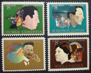 US #1484/1485/1486/1487 MNH 4 Singles Am. Arts, SCV $1.00