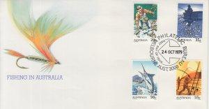 1979 Australia Fishing  (Scott 722-25) FDC