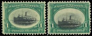 294 Var, SINKING SHIP - SHIFT OF VIGNETTE AT BOTTOM