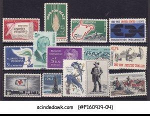 UNITED STATES USA - 1963 STAMPS SCOTT#1230-1243 - 14V MNH