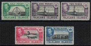 Falkland Is. #84,85B-7*  CV $5.95