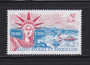St. Pierre and Miquelon #477 MNH CV$2.00 Statue of Liberty Centennial [52805]